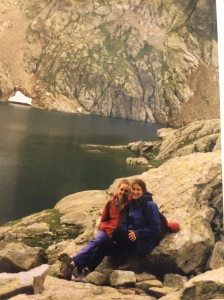 Angie and I spent several days with a family she knew in France.  They took us hiking in their back yard which happened to be the Alps.  We literally saw darling little sheep with bells wondering around the hillside.