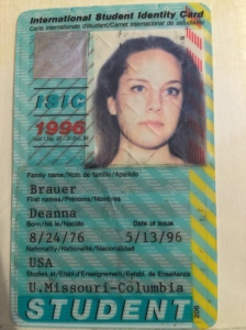 Was I so proud of this ID card or what!  I was also very proud to own my auro-rail pass and my international youth hostel card.