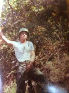 My dad stationed somewhere in Vietnam.  He served 2 tours, voluntarily.